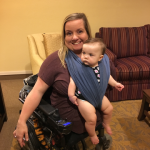 photo of baby Schuyler in a Baby K'Tan wrap