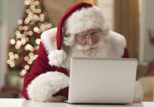 Santa on computer