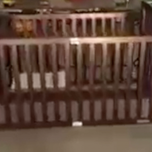 Photo of accessible wooden crib